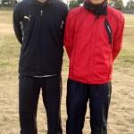 2008 12月 (左)小森田友明氏 宮崎大志郎氏 ロアッソ熊本