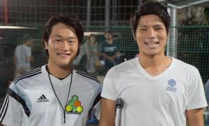 沢コーチと小牧選手