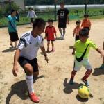 2016.7月 三角校 親子サッカー体験