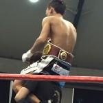辰弥がとうとうやりました。世界WBOミニマム級暫定チャンピオンです。