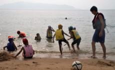 7/26(木)~ サマーキャンプ in あしきた のご案内 どなたでも参加自由です。サッカートレーニング+カヌー+海水浴