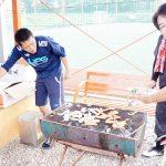 武蔵中サッカー部 親子でフットサルの後BBQ