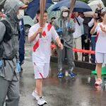 5/5水 聖火リレー 福原辰弥君 楽しんでます(^^))